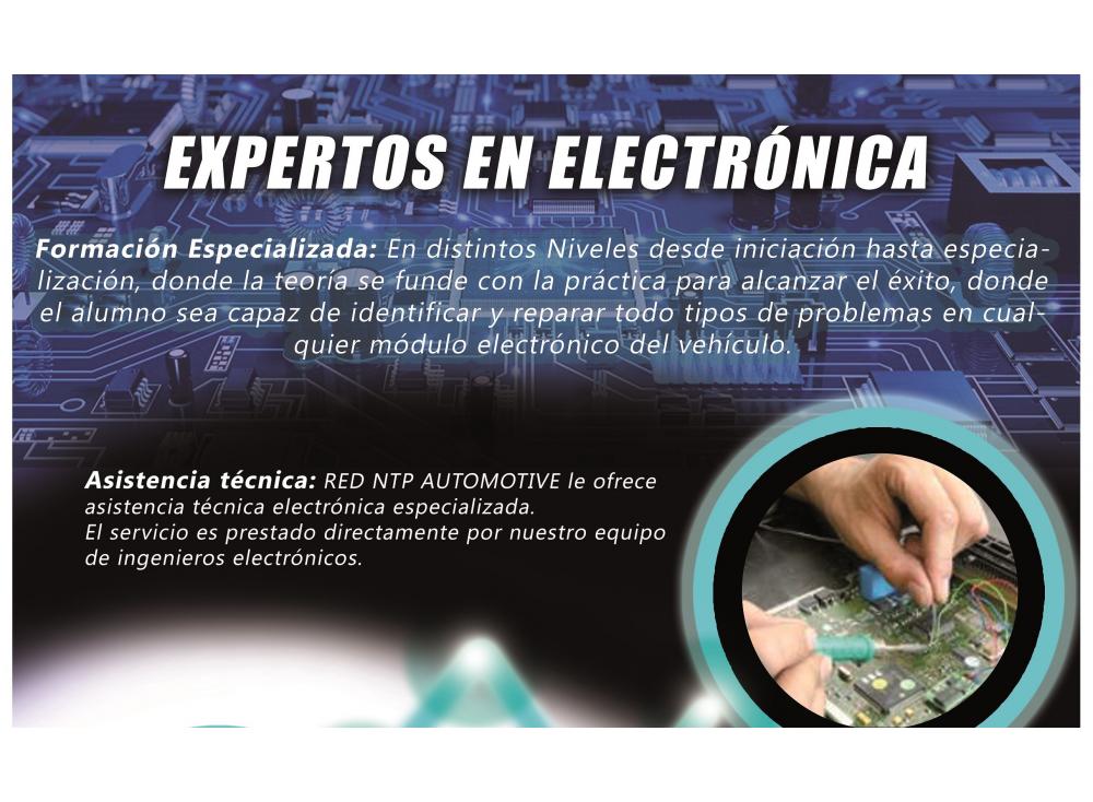 CURSO AVANZADO ELECTRÓNICA DE AUTOMOCIÓN. DEL 25 AL 26 DE MAYO EN RED NTP AUTOMOTIVE SEVILLA